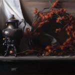 Autumn Wreath, oil on linen, 21 x 26, 2010