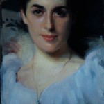 """LadyAgnew"" after Sargent, oil on panel, 8x12, 2010"