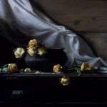 Wilted Roses, oil on panel 18x24, 2010